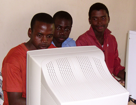 Students enthusiastic about donated computers